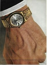 1965 Rolex Oyster Perpetual Chronometer Datejust Original Color Photo Print Ad