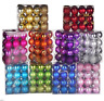 30mm Xmas Christmas Tree Ball Bauble Hanging Home Party Ornament Decor 24pcs