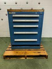 Stanley Vidmar Storage Cabinet 5 Drawer 30x28x38 Butcher Block Tabletop