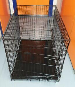 Ellie-Bo Black 36 inch  Large 2 Door Folding Dog Puppy Cage
