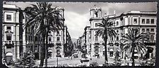 PALERMO PIAZZA G. CESARE VIA ROMA foto cartolina panoramica fuori misura no viag