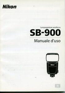 Nikon SB900 manuale istruzioni  Italiano originale 70 pagine