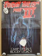 friday the 13th part 3 (1982) uk video shop film poster Steve Miner