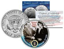 RICHARD NIXON & ELVIS PRESLEY at White House Colorized JFK Half Dollar U.S. Coin