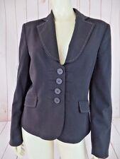 Next Blazer 12 Dark Brown Button Front Pockets Poly Viscose Blend Fitted Stylish