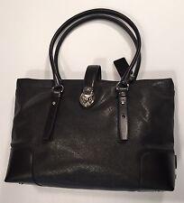 Tumi Villa TURIN SHOPPER TOTE Bag Purse Black Canvas w/ Leather Trim 73105D $395