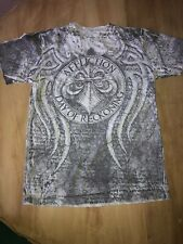 Affliction Mens Gray Day Of Reckoning Fedor Vs Arlovski Graphic T Shirt Sz S