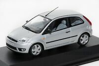 Ford Fiesta Mk5 3dr Silver, dealership model, Minichamps 1:43 scale, car gift