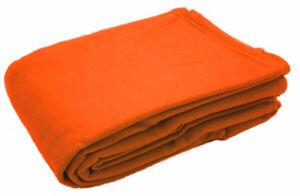 Fleece Throw Blanket Warm Soft Sofa Single Double Bed Car Travel 125cm x 150cm