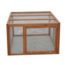 X-LARGE 1.3m wooden classic Chicken Coop Hen house Chook Hutch Cage RUN T009run