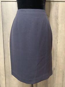 INC International Concepts Dark Blue Size 2 Women's Pencil Skirt Side Slit