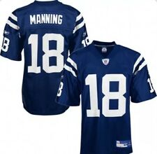 New Mens Reebok Peyton Manning #18 50 On Field Indianapolis Colts Jersey Nfl