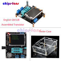 English GM328 Assembled Transistor Tester LCR ESR PWM Meter +Acrylic Case