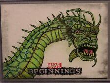 Marvel-Beginnings-Rusty Gilligan-Fin Fang Foom-Comic-SketchaFEX Card-Sketch Card