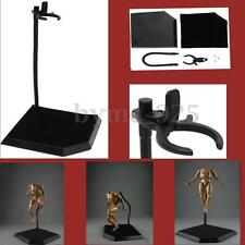 """Black 1/6 Scale Action Figure Base Toy Model Chuck Bracket Stand Display 12"""""""