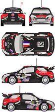 1/43 Decal Citroen DS3 WRC #52 Rally de France 2012