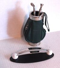 THINGS REMEMBERED Golf Club Pencil Letter Opener Desk Set W Golf Bag Card Holder