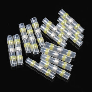 50Pcs Solder Seal Heat Shrink Connectors Wire Butt Waterproof Terminals 12-10AWG