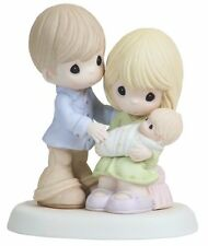 Precious Moments, In Our Hearts From The Very Start, Bisque Porcelain New