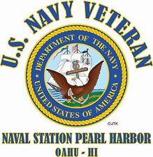 U.S. NAVY VETERAN EMBLEM NAME DROP U.S. NAVY BASE/STATION SHIRT