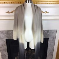 BEAUTIFUL STORIES Anthropologie S Gray Ombre Long Duster Open Cardigan Sweater
