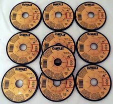 "10 PC LOT DEWALT 4-1/2"" x 1/4"" x 7/8"" METAL GRINDING WHEELS DW4541 DW4514"