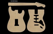 "Stratocaster MDF Guitar Body and Neck Template 0.25"" thickness CNC made strat"