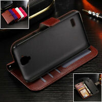 Luxury Leather Wallet Stand Flip Card Slot Phone Case For Huawei honor 4A Y5 Y6