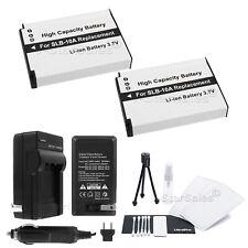 2x SLB-10A Battery + Charger for Samsung L313 ES50 ES55 HZ10W HZ15W IT100