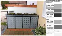Mülltonnenbox aus Metall Müllbox Mülltonnenschrank 4x240-l-K-foliert