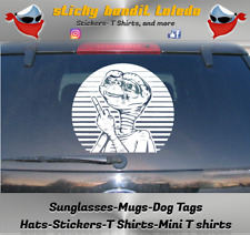 E.T. Extra Terrestrial Middle finger 6 inch window vinyl decal sticker