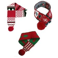 Animate Dog Puppy Christmas Festive Scarf Snowflake Tree Red White Blue Green