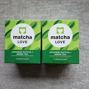 Lot Of 2 Tea Bags Match Love Japanese Matcha/Green Tea