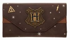 Harry Potter Hogwarts Metal Crest Foldover Flap Wallet Satchel Clutch Purse