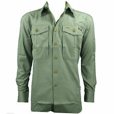 NEW National Geographic Mens Adventure Travel Green Button-Front Shirt Medium