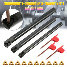 SNR0008K11+SNR0010K11+SNR0012M11 Lathe Boring Bar + 10 11IR A60 Insert + Wrench