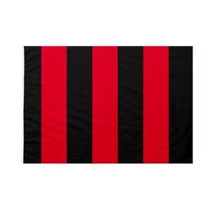 Bandiera Rossonera Rossa e nera Bandiera Milan 90 X 150 con asola per asta