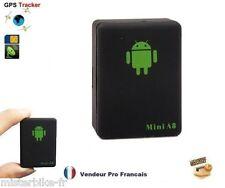 Traceur gps gsm gprs portable secours sos quadri-band mini espion micro tracker