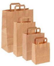 Sac papier kraft / sachet cabas brun marron 80gr/m2 à soufflet + poignées plates