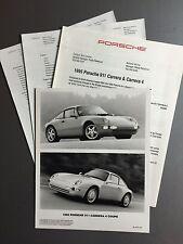 1995 Porsche 911 Carrera 4 PCNA Press Kit, Press Release, Pressemaappe RARE!!