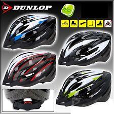 DUNLOP Adult Kids Unisex Helmet Bike Bicycle Safety MTB Skater 4 Colour 2 Sizes