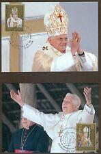Vatican City Sc# 1390-1: Papal Trip of Benedict XVI in 2007, Maxi Cards