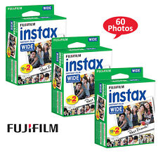 Fuji Fujifilm Instax 210 200 Instant Color Print Wide Film Twin Pack, 60 Prints