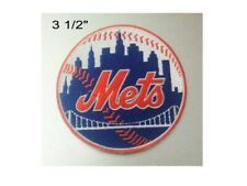 "New York Mets Logo Iron On Patch 3 1/2"" Free Shipping by Envelope Mail"