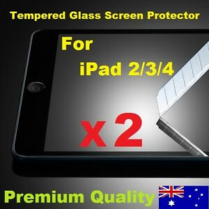 Scratch Resist Tempered Glass LCD Screen Protector Guard for Apple iPad 2 3 4