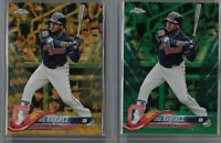 2018 Topps Chrome JOSE RAMIREZ LOT OF 2 Cards GREEN & GOLD WAVE PARALLELS SP
