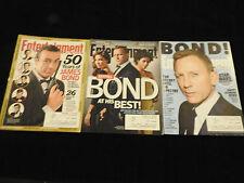 Entertainment Weekly Magazine Lot X3 JAMES BOND 50 Years of Bond Daniel Craig ++
