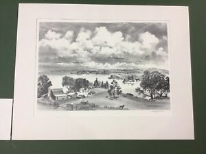 """Adolf A. Dehn Lithograph """"Lake Country"""" Mint AAA Ed. 250"""