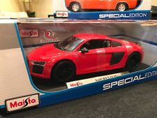 Maisto 1:18 Scale Special Edition Diecast Model Audi R8 V10 Plus (Red)
