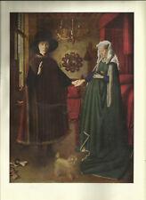 Herr und Frau Giovanni Arnolfini von Jan van Eyck - Kunstblatt aus 1950 Bild